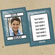 Gimnasia personalizados Foto Tarjetas de intercambio Set de 12