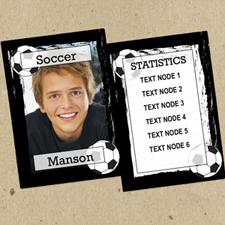 Juego de 12 tarjetas de intercambio de fotos con marco negro de fútbol personalizados