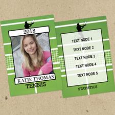 Juego de 12 tarjetas de intercambio de fotos de tenis personalizados