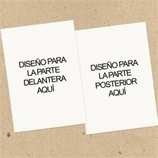 Juego de 12 tarjetas comerciales con impresión personalizada