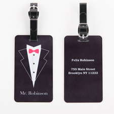 Etiqueta de equipaje personalizada para bodas con Sr.