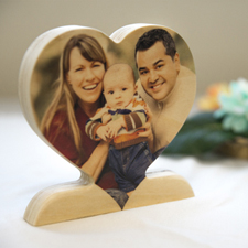Decoración personalizada de madera de corazón para mamá