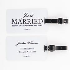 Etiqueta de equipaje personalizada de