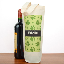 Bolsas de algodón para el vino con estampado de patas