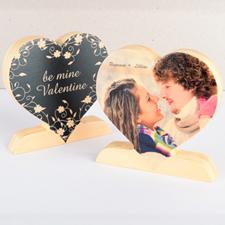 Be Mine Foto de madera de San Valentín Corazón