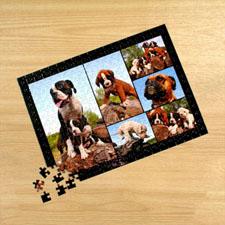 Personalizado negro 6 colage 30.48 cm x 41.91 cm Photo Puzzle