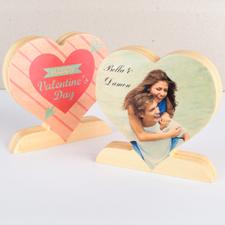 Flecha del Amor Foto Corazón de madera