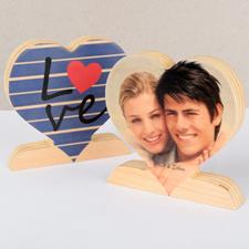 Raya y amor Foto Corazón de madera