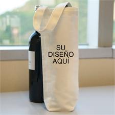Bolsa de algodón para vino personalizada