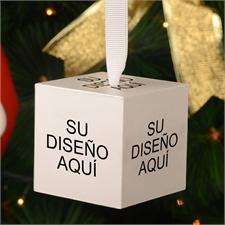 Foto-cubo de madera personalizado con impresión a todo color de 5,08 cm, adorno