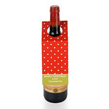 Etiqueta de vino roja personalizada con lunares, juego de 6