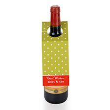 Etiqueta de vino personalizada con lunares de color lima, juego de 6