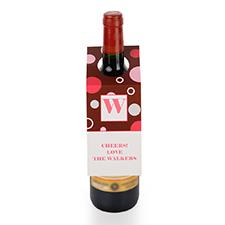 Etiqueta de vino personalizada con lunares, juego de 6