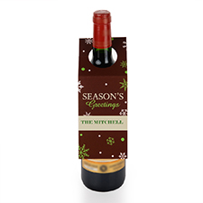 Etiqueta de vino Saludos personalizados , juego de 6.