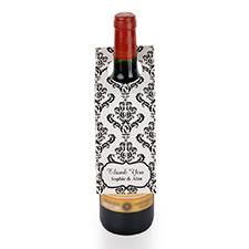 Etiqueta de vino personalizada de damasco negro, juego de 6