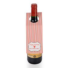 Etiqueta de vino personalizada con rayas de vacaciones, juego de 6