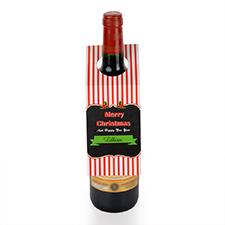 Etiqueta de vino persoanlizada con tiras y