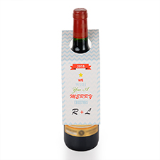 Etiqueta de vino personalizada con símbolo de