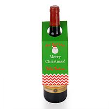 Etiqueta de vino de Papá Noel, juego de 6