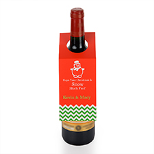 Etiqueta de vino de muñeco de nieve personalizados, juego de 6.