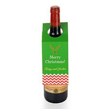 Etiqueta de vino personalizada de renos, juego de 6