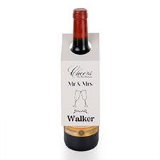 Etiqueta de vino personalizada para el