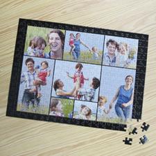 Personalizado negro 8 colage 30.48 cm x 41.91 cm Photo Puzzle