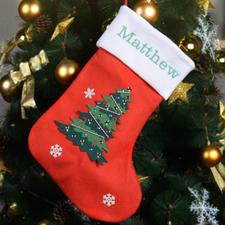 Nombre bordado Medias para el árbol de Navidad