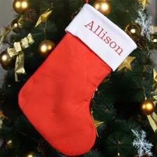 Nombre bordado Medias de Navidad