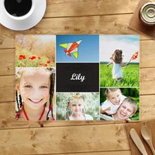 Seis fotomontañas personalizadas con fotos de collage