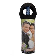Bolsas de vino de material neopreno personalizada con foto (De un lado)