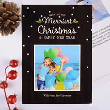 Merriest Christmas Personalized Photo Card