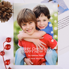 Sparkle Holiday Personalized Photo Card