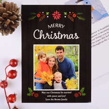 Floral Christmas Personalized Photo Card