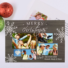 Happiest Snowflake Personalized Photo Christmas Card