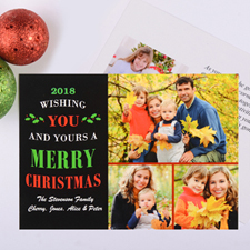 Christmas Wishes Personalized Photo Card