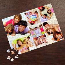 Rompecabezas personalizados con colage de 7 fotos de color blanco 30.48 cm x 41.91 cm
