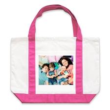 Bolsa de lona rosado caliente personalizada con fotografía de paisaje