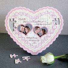 Charming Personalizado Heart Shape Puzzle