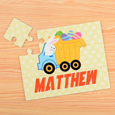 Easter Truck Personalized Kids Puzzle