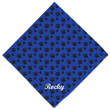 Bandana de huella de perro azul personalizable con nombre 50.8 cm