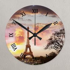 Reloj personalizado con impresión de galería de fotografías y números romanos