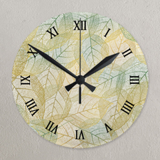Reloj de acrílico redondo de números romanos personalizado con fotografía alrededor