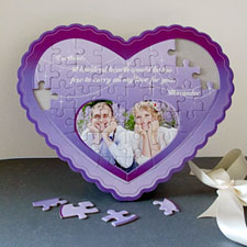 Love You Personalizado Heart Shape Puzzle