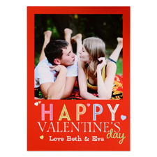 Happy Valentine's Day Personalized Photo Card