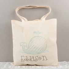 Bolsa de algodón personalizada de la ballena