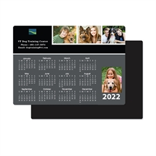 Personalizado 2020 Calendario de cuatro fotos de imán de collage 8.89 cm x 12.7 cm Gris oscuro