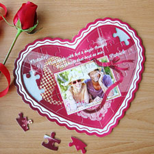 All Of My Heart Personalizado Heart Shape Puzzle