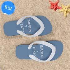 Sandalias personalizadas con 2 fotografías horizontales. Niños. Mediano