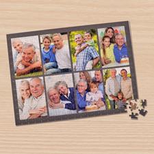 Personalizado Dark Grey 8 colage 30.48 cm x 41.91 cm Photo Puzzle
